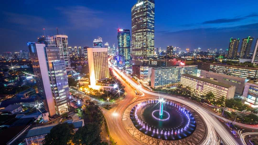 Jakarta city in the evening.